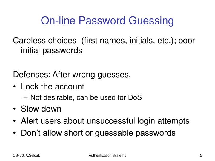 On-line Password Guessing