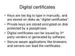 digital certificates1