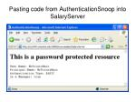 pasting code from authenticationsnoop into salaryserver1