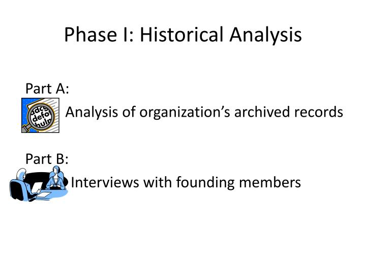 Phase i historical analysis