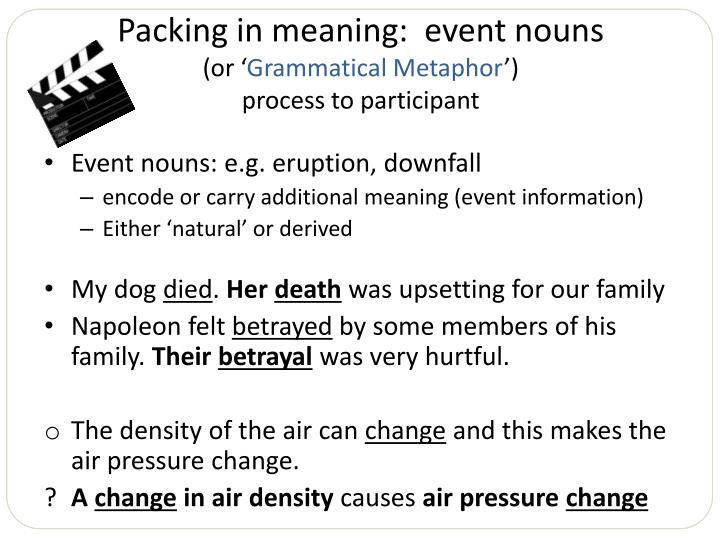 Packing in meaning:  event nouns