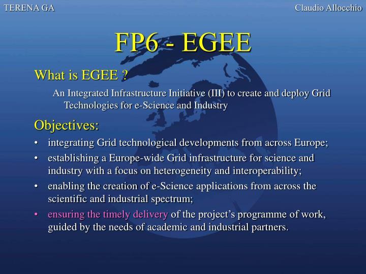 FP6 - EGEE