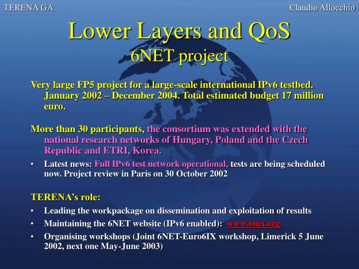 Lower Layers and QoS