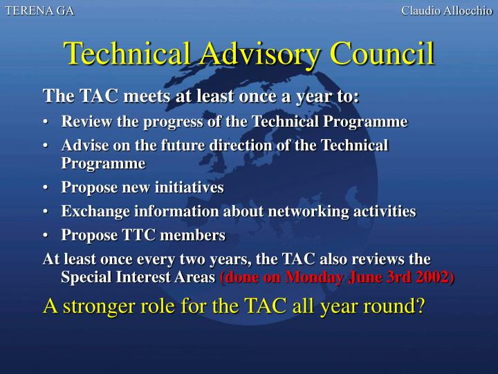 Technical Advisory Council