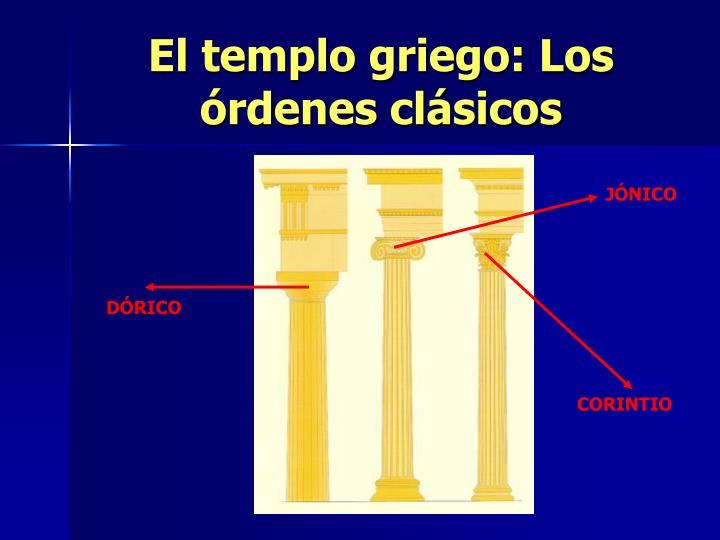 El templo griego: Los órdenes clásicos
