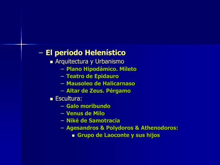 El periodo Helenístico