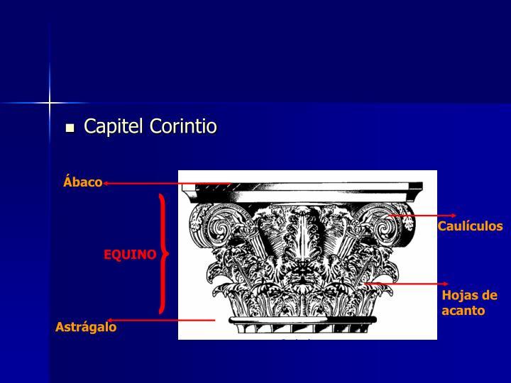Capitel Corintio