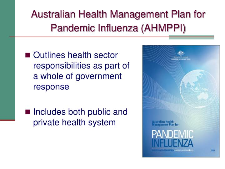 Australian Health Management Plan for Pandemic Influenza