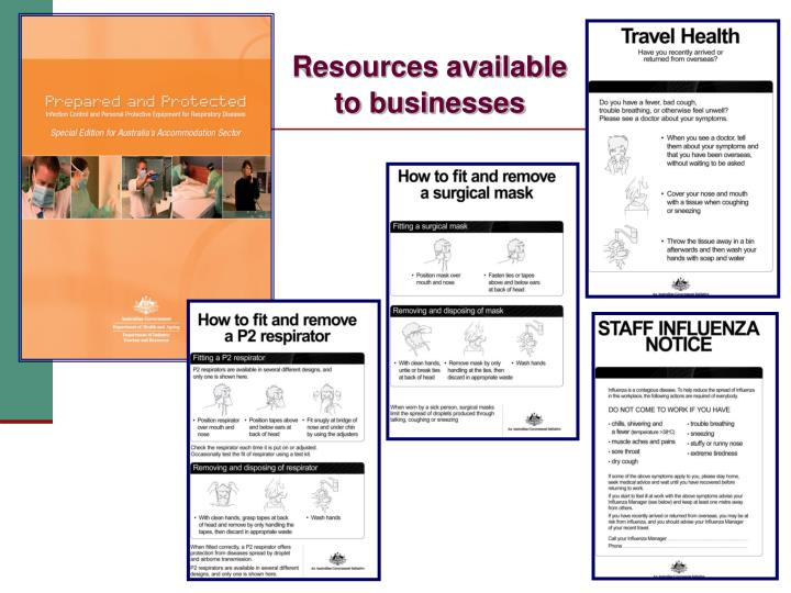 Resources available to businesses