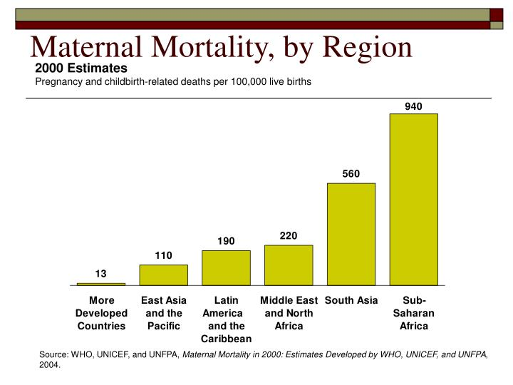 Maternal Mortality, by Region