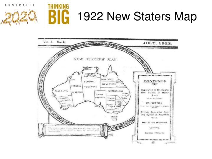 1922 New Staters Map