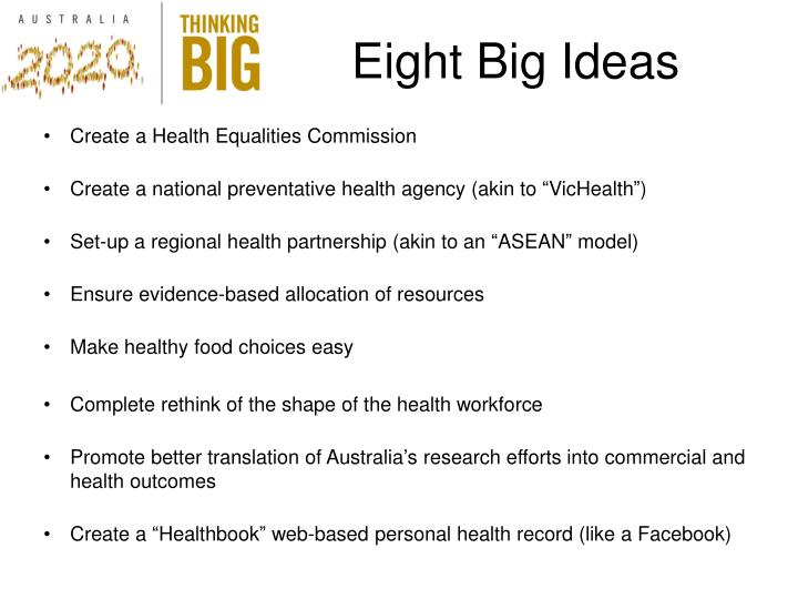 Eight Big Ideas