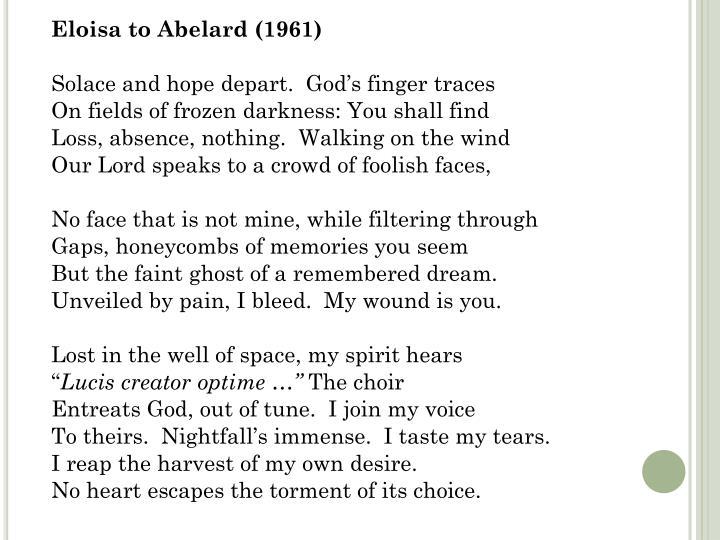 Eloisa to Abelard (1961)