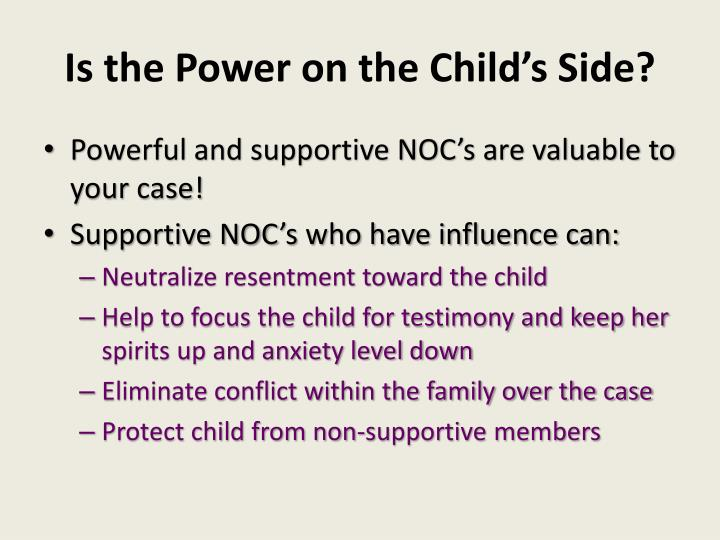 Is the Power on the Child's Side?