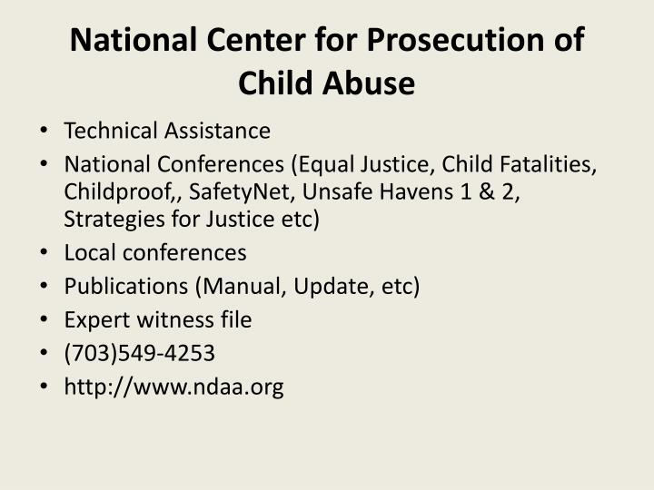 National Center for Prosecution of Child Abuse