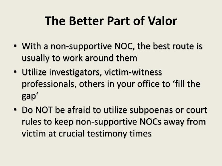 The Better Part of Valor