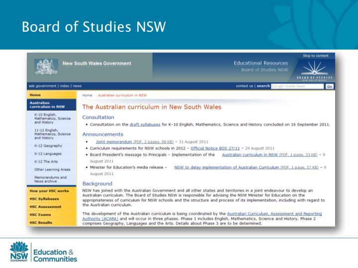 Board of Studies NSW
