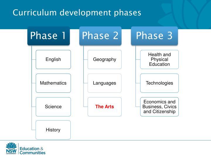 Curriculum development phases