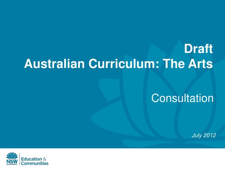 draft australian curriculum the arts