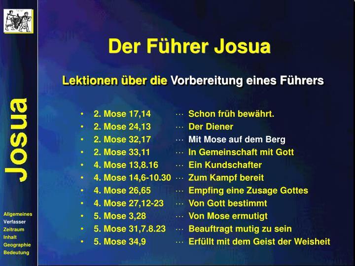 Der Führer Josua