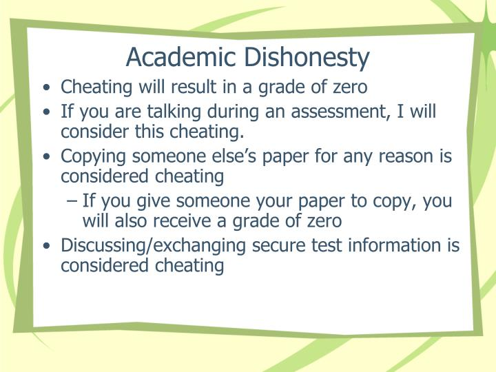 Academic Dishonesty