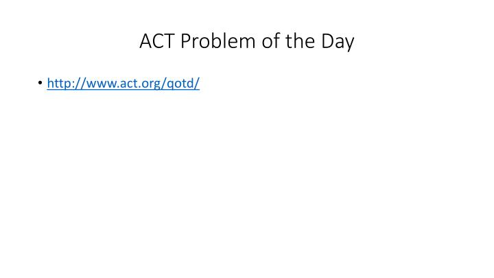 ACT Problem of the Day