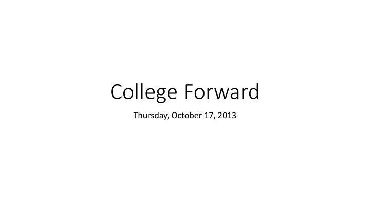 College Forward