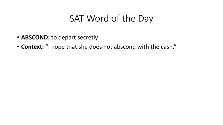 SAT Word of the Day