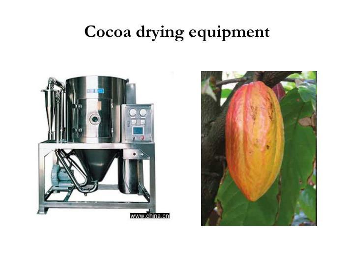Cocoa drying equipment