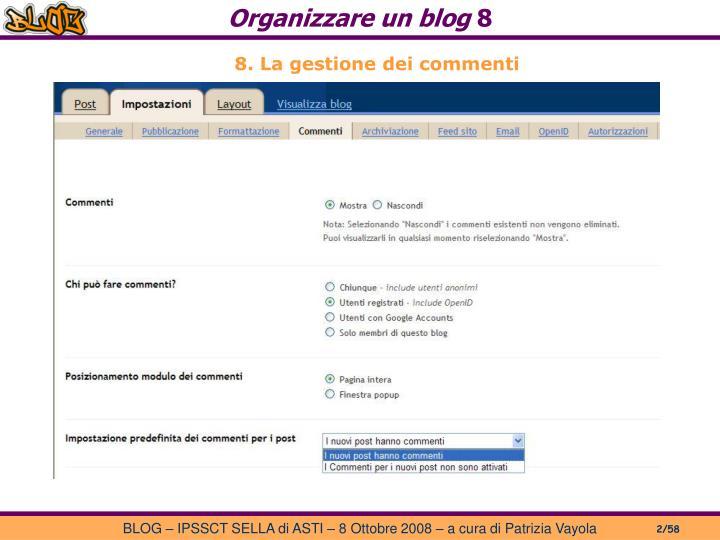 Organizzare un blog