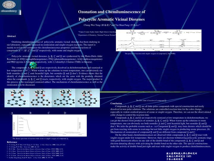 Ozonation and Chemiluminescence of