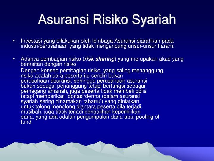 Asuransi Risiko Syariah