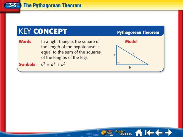 Lesson 3-5 Key Concept 1