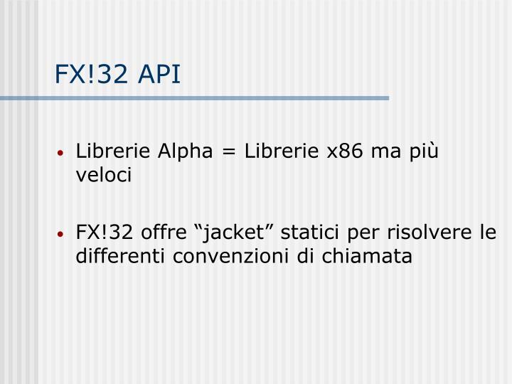 FX!32 API