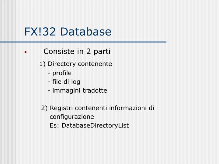 FX!32 Database