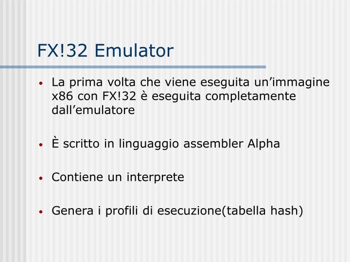 FX!32 Emulator