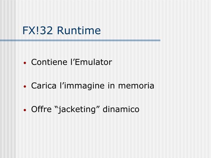 FX!32 Runtime