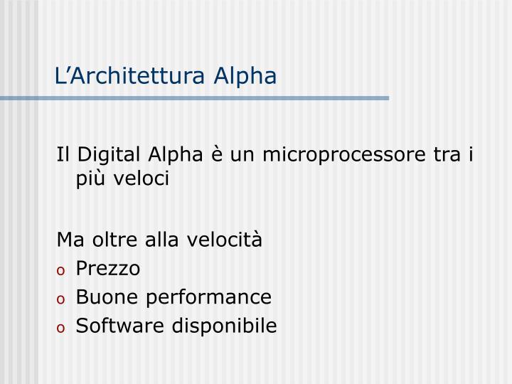 L'Architettura Alpha