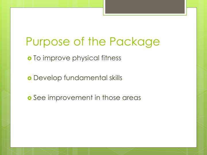 Purpose of the Package