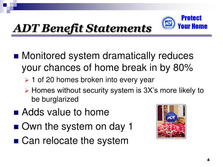 ADT Benefit Statements