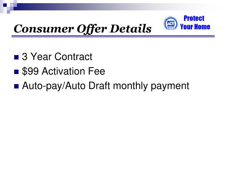 Consumer Offer Details