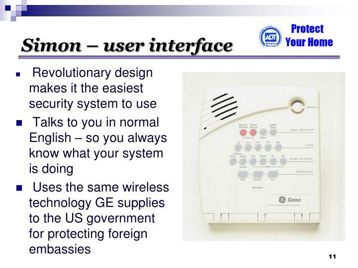 Simon – user interface