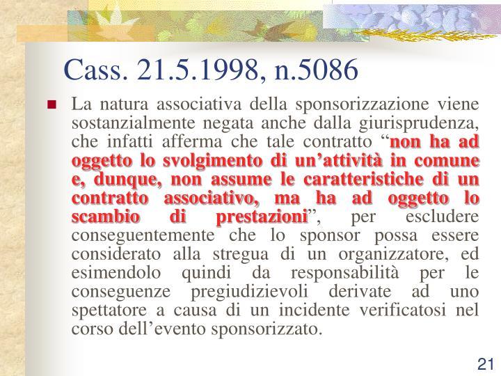 Cass. 21.5.1998, n.5086