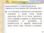 determinazione n 24 dell autorit per la vigilanza sui lavori pubblici del 5 dicembre 2001