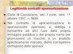 legittimit contratti sponsorizzazione