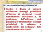no inserimento di messaggi pubblicitari 8 8