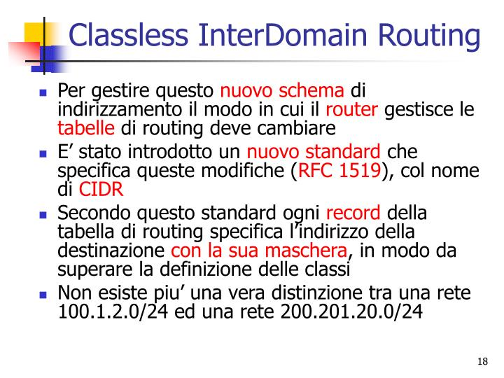Classless InterDomain Routing