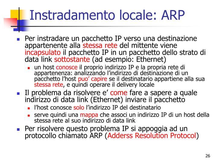 Instradamento locale: ARP