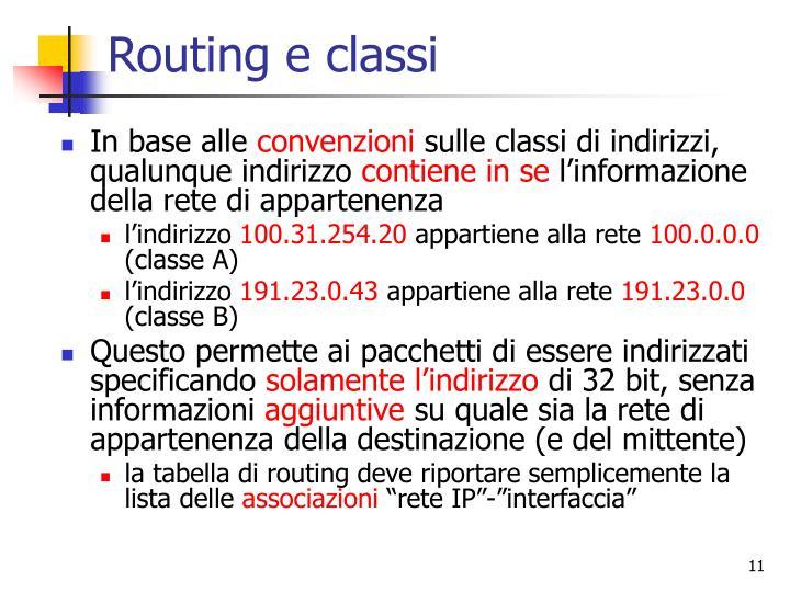 Routing e classi