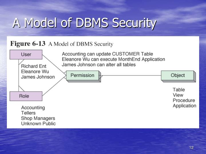 A Model of DBMS Security